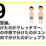 【解説069】性格の類型論。体型で分けたのがクレッチマー、リビドーの作用で分けたのがユング、個人の志向で分けたのがシュプランガー